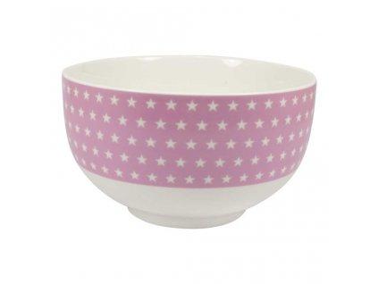 Porcelánová miska HVĚZDY růžová
