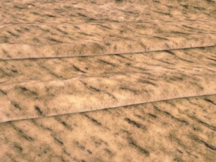 Plyš melírovaný-metráž šíře 150 cm barva béžová/hnědá/čokoládová