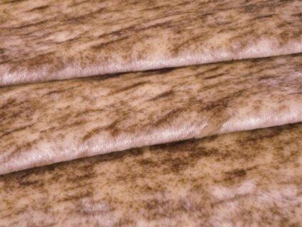 Plyš melírovaný-metráž šíře 150 cm barva béžová/hnědá
