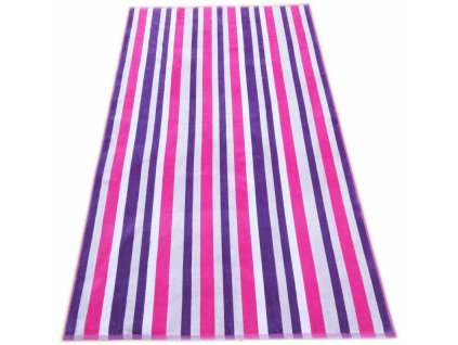 Plážová osuška č.10 pruhy 100x160 fialová