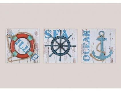 Obraz s námořnickým motivem kormidlo 40x40