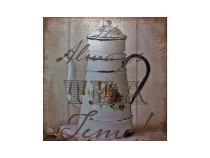 Obraz na plátně s motivem konvice na čaj 40x40 cm