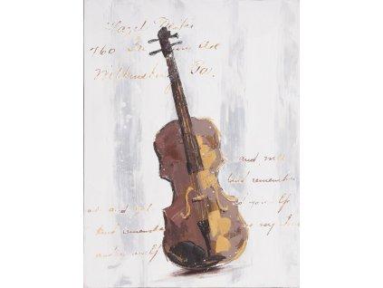 Obraz na plátně Housle 60x80 hnědé