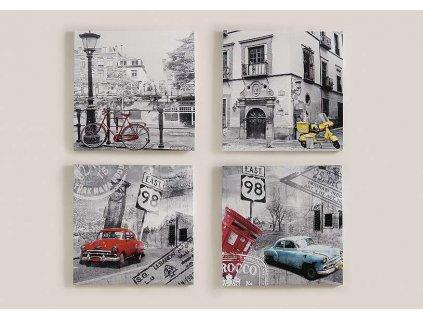 Obraz na plátně 50x50 auto modré