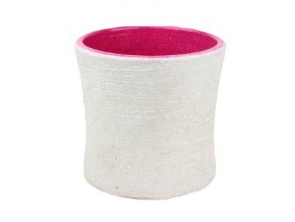 Obal na květináč 328841 růžový 16 cm