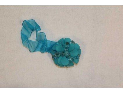 Magnet na závěsy modrý