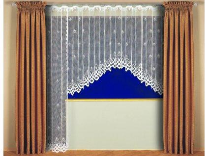 Kusová záclona Sandra výška 150 x320 cm bílá