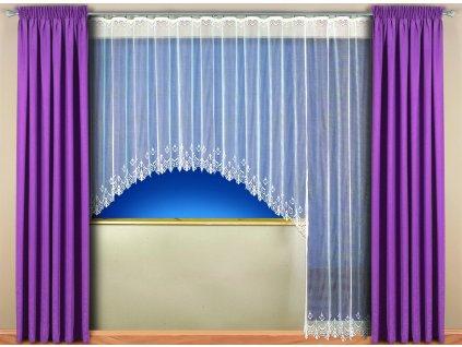 Kusová záclona Ivana výška 170x310 cm bílá