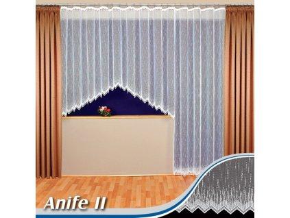 Kusová záclona ANIFE II výška 160x315 cm bílá