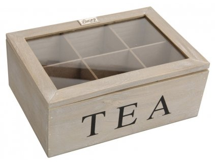 Krabička na čaj TEA 16x23x9 cm přírodní