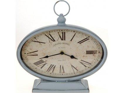 Kovové stolní hodiny 29x10,5x25 cm šedé
