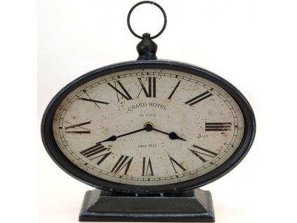 Kovové stolní hodiny 29x10,5x25 cm černé