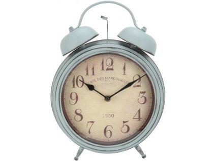 Kovové stolní hodiny 23,5x31x8,5 cm pastelově tyrkysové