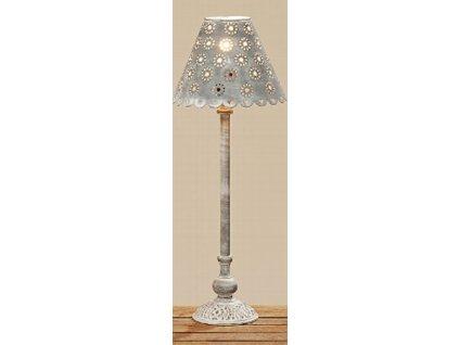 Kovová lampa výška 60 cm šedá s patinou