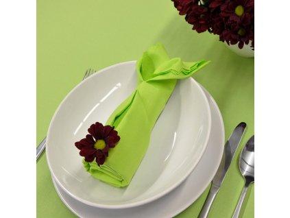 Jednobarevný teflonový ubrus Standard č.3932 UNI barva jarni zelená