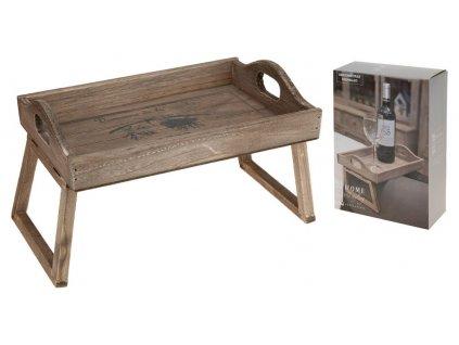 Dřevěný podnos na křeslo 29,5x20x18 cm