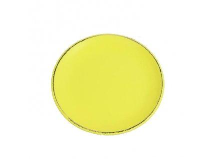 Dřevěný podnos kulatý D0767-02 22x2 cm žlutý