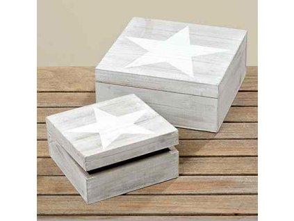 Dřevěný box s víkem 16x16x7,5 cm malý