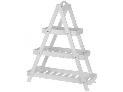 Dřevěná police 60x70x24,50 cm bílá