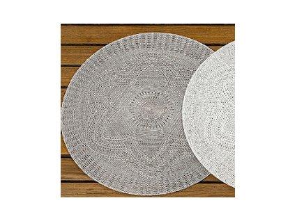 Dekorační prostírání kulaté průměr 38 cm šedé