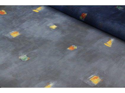 Dekorační látka/voál šíře 140 cm modrá