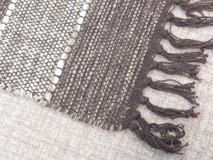 Bavlněný kobereček s třásněmi 50x80 cm čokoládový