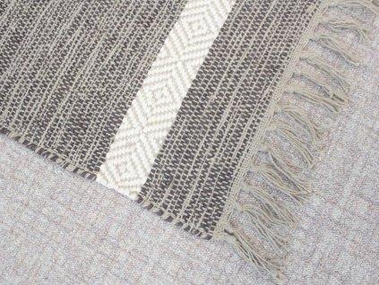 Bavlněný kobereček s třásněmi 50x80 cm béžový