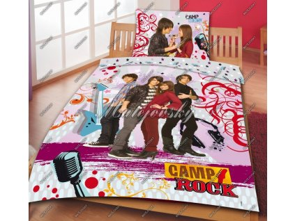 Bavlněné povlečení Camp Rock 70x90, 140x200