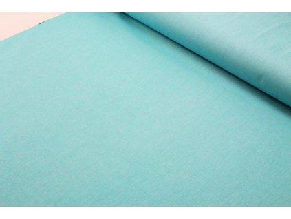 Bavlněná látka jednobarevná šíře 160 cm tyrkysová