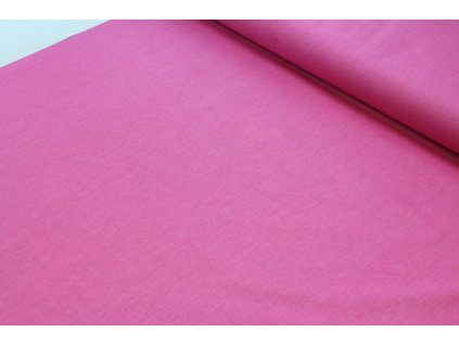 Bavlněná látka jednobarevná šíře 160 cm růžová