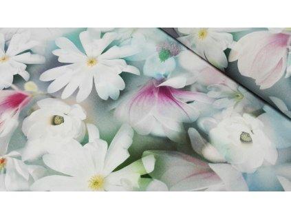 Bavlněná látka 6202/001 šíře 155 cm magnolie