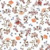 Teflonový ubrus s květinovým vzorem Saly smetanový