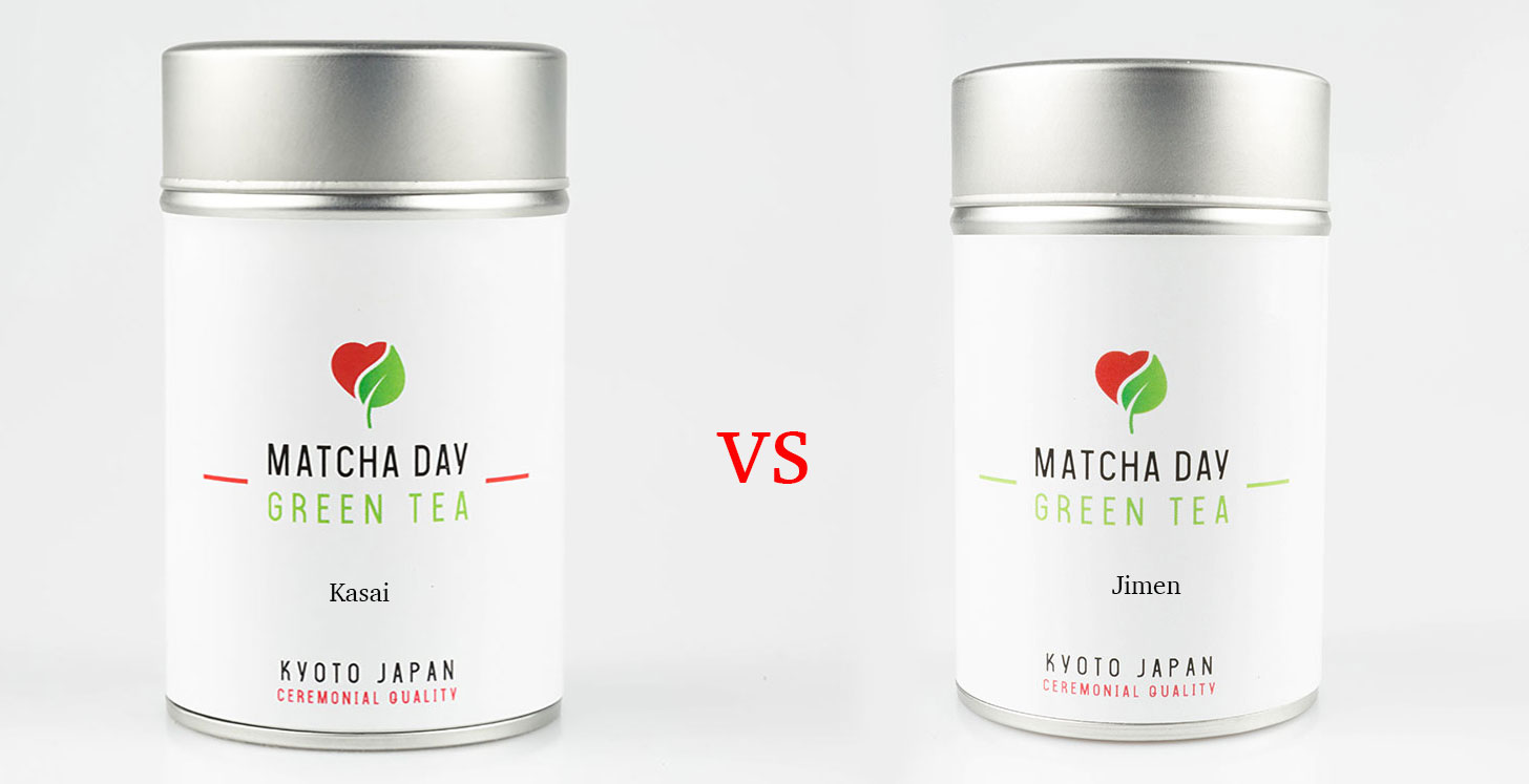 Rozdiel medzi variantami čaju Matcha Day Kasai aMatcha Day Jimen