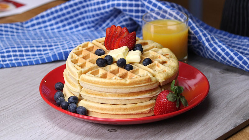 Matcha waffle