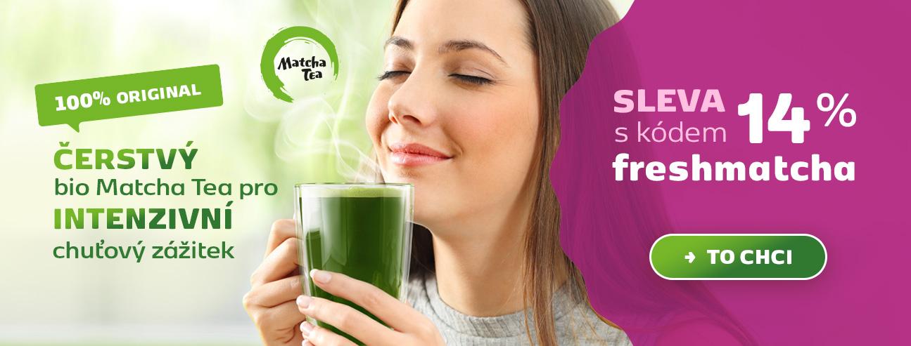 Čerstvý bio Matcha Tea pro intenzivní chuťový zážitek, sleva 14% s kódem freshmatcha