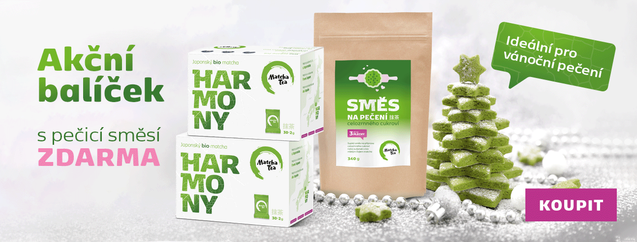 Akční balíček 2x Bio Matcha Tea Harmony + směs na pečení zdarma