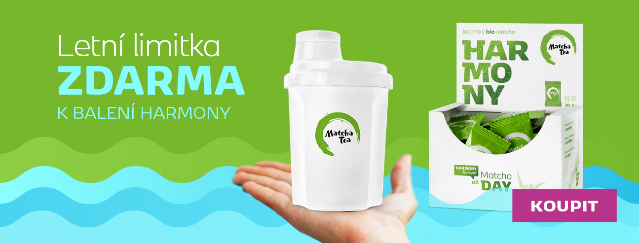 1 x Bio Matcha Tea Harmony + šejkr B300 zdarma