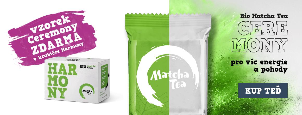 Bio Matcha Tea Harmony se vzorkem Bio Matcha Tea Ceremony zdarma