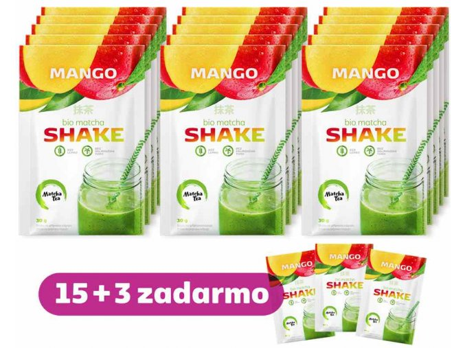 Matcha Shake Mango 15+3 zadarmo Akcia