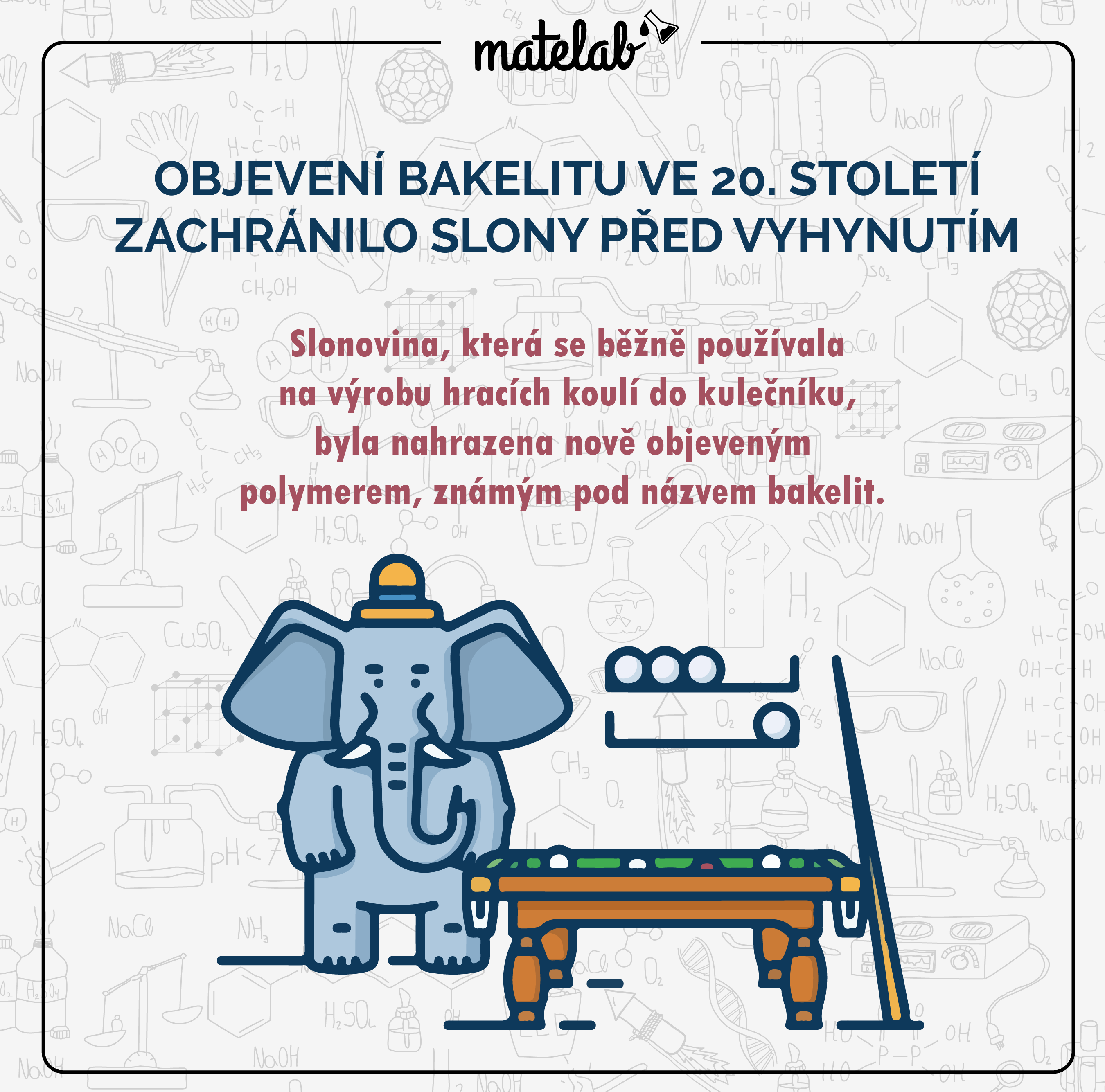 Bakelit zachraňuje slony