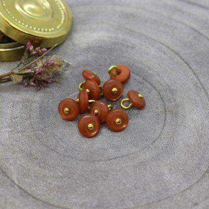 knoflík jewel chestnut, 9 mm