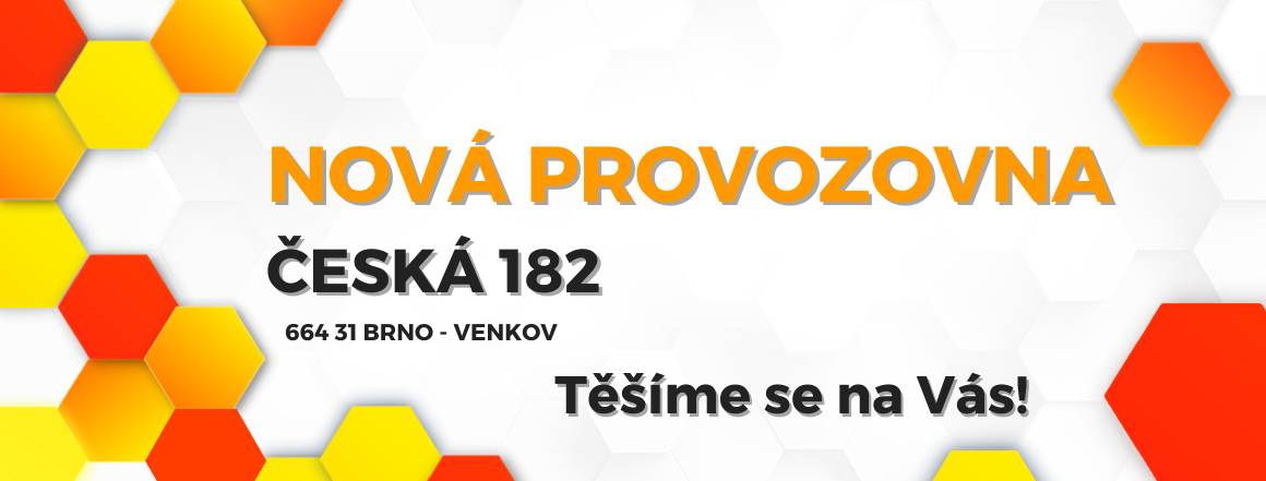Nová provozovna v obci Česká 182, 664 31 Brno-venkov