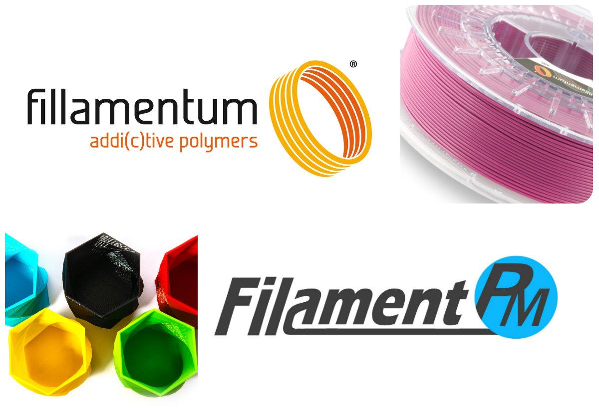 Náplně do 3D tiskáren značek Fillamentum a Filament-PM