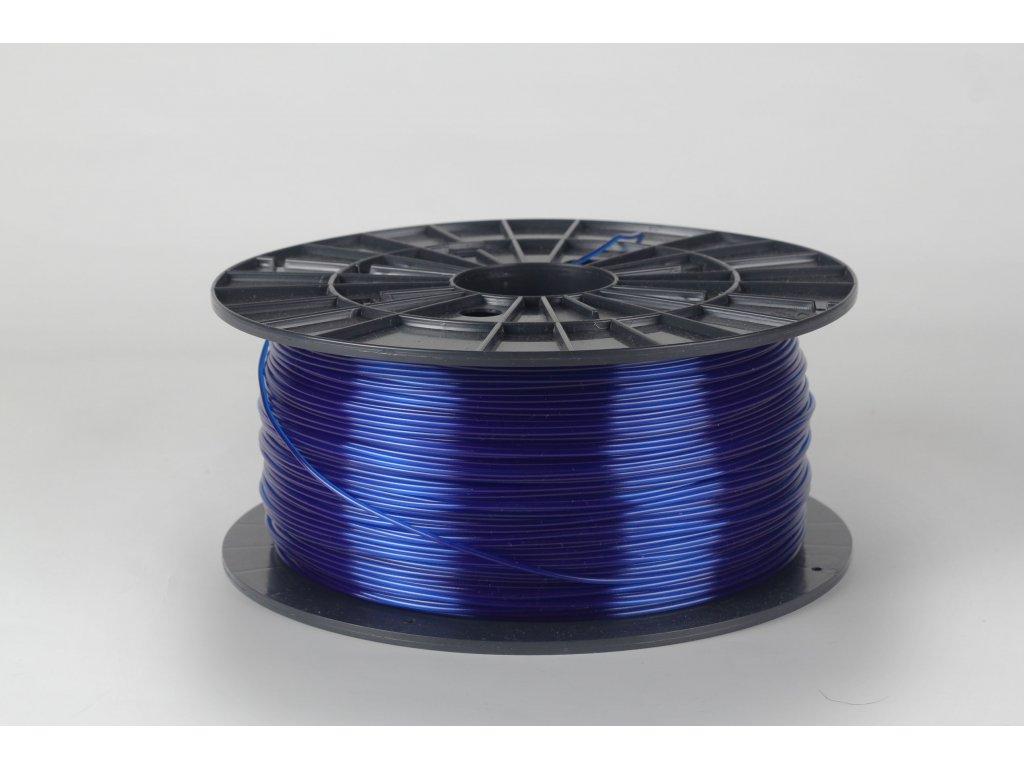 PET-G tisková struna modrá transparentní 1,75 mm 1kg Filament PM