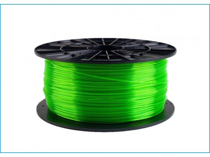 PET-G tisková struna zelená transparentní 1,75 mm 1 kg Filament PM