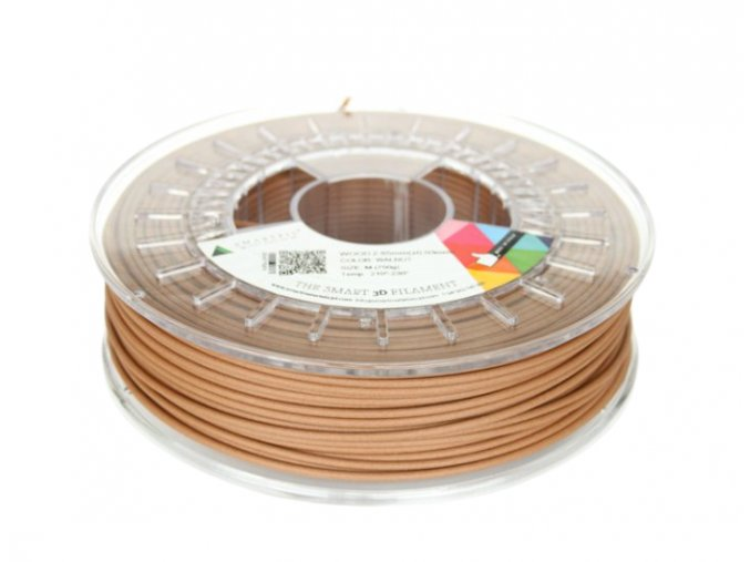 WOOD filament hnědý ořech 2,85 mm Smartfil 750 g