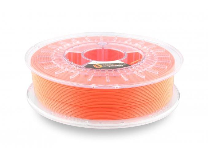 PLA filament Extrafill svítívý oranžový 2,85mm 750g Fillamentum