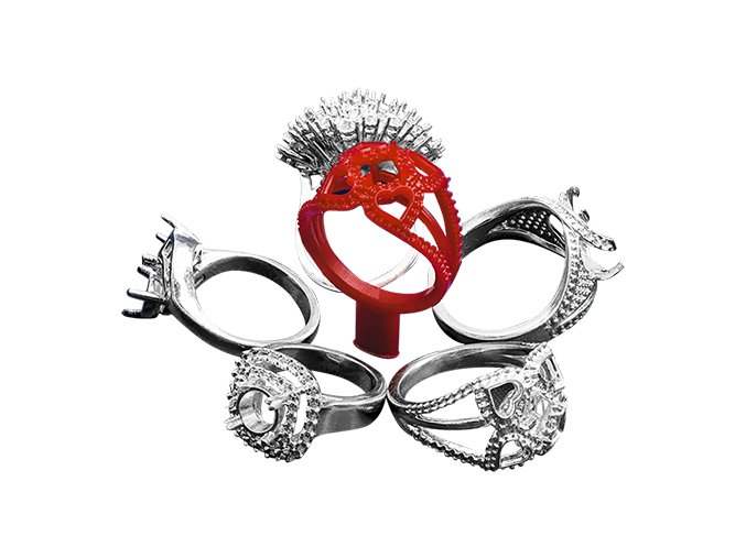 Precision Castable Red ring with casted rings