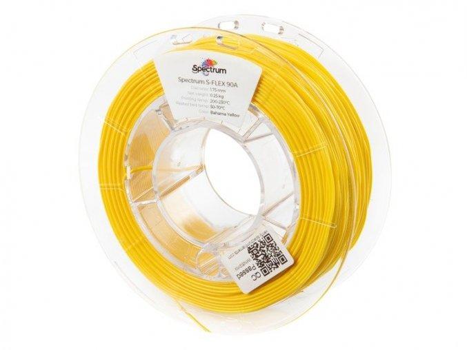 eng pl Filament S Flex 90A 1 75mm BAHAMA YELLOW 0 25kg 1196 1