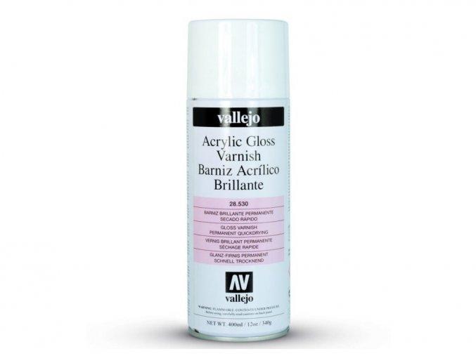 Lak ve spreji Vallejo 28530 Gloss Spray Varnish (400ml)